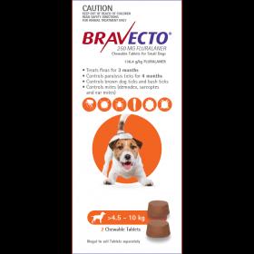 Bravecto Dog Chew Small 4.5-10kg Orange - 2pk