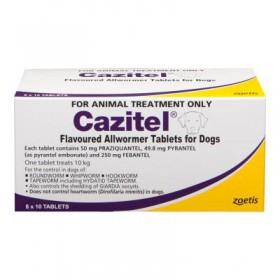 Cazitel Dog 10kg Purple - 80pk