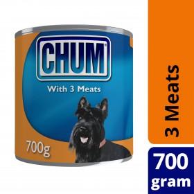 Chum Dog Adult 3 Meats 700g x 12