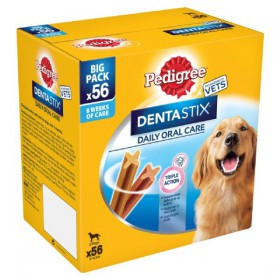 Pedigree Dentastix 25kg+ Large Giant Dog 2X8X270g 56pkx2