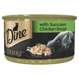 Dine Desire Cat Adult Succulent Chicken Breast 85g x 24