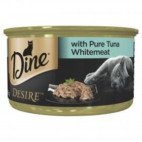Dine Desire Cat Adult Pure Tuna Whitemeat 85g x 24