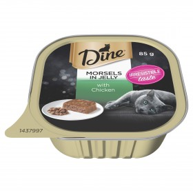 Dine Cat Adult Morsels In Jelly with Chicken 85g x 14