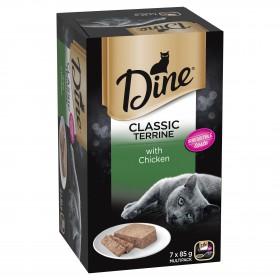 Dine Cat Adult Multipack Classic Terrine Chicken 85g x 7 - 6pk