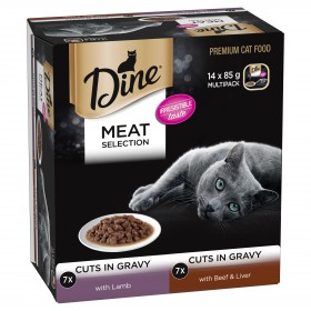 Dine Cat Adult Variety Pack Meat 85g x 14
