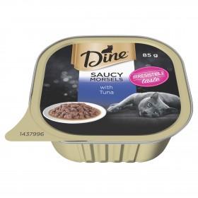Dine Cat Adult Saucy Morsels Tuna 85g x 14