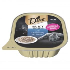 Dine Cat Adult Saucy Morsels Tuna Mornay with Cheese 85g x 14