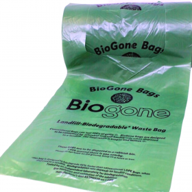 Biogone Dog Poo Bag Landfill Biodegradable Loop Handles Gusseted 250 Bags x 1 Large Roll