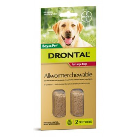 Drontal Chews Dog Large 35kg Red - 2pk