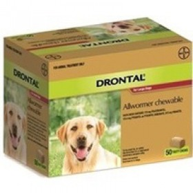 Drontal Chews Dog Large 35kg Red - 50pk