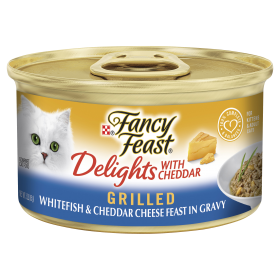 Fancy Feast Cat Adult Delights Cheddar Whitefish 85g x 24