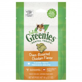 Greenies Cat Treat Roast Chicken 60g