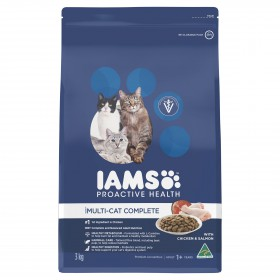 Iams Cat Adult Multi-Cat Chicken and Salmon 3kg
