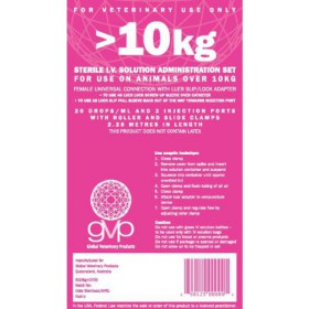 Giving Set 20 Drops/ml 10kg Pink