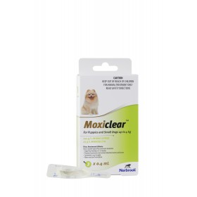 MOXICLEAR FOR PUPPIES AND SMALL DOGS UP TO 4KG 3 PACK