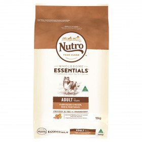 Nutro Wholesome Essentials Dog Adult Farm-Raised Chicken, Rice and Vegetables 15kg