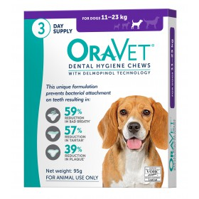 Oravet Dental Chew Medium Dog - 3pk