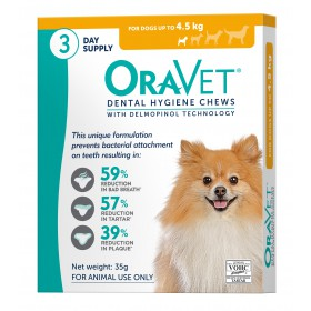 Oravet Dental Chew Extra Small Dog - 3pk