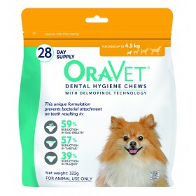 Oravet Dental Chew Extra Small Dog 28's