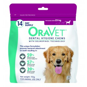 Oravet Dental Chew Large Dog 14's