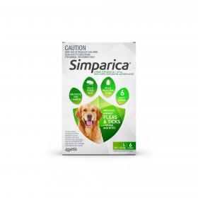 SIMPARICA 20.1–40KG 80MG GREEN 6PK