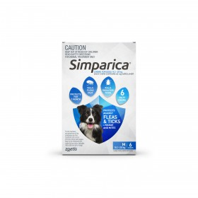 SIMPARICA 10.1–20KG 40MG BLUE 6PK