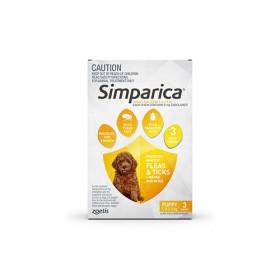 SIMPARICA 2.5KG 5MG YELL 3PK