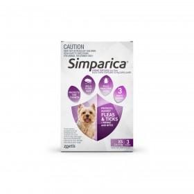SIMPARICA 2.6–5KG 10MG PURP 6PK