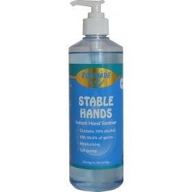 Equinade Stable Hands Sanitiser Gel Pump - 500ml