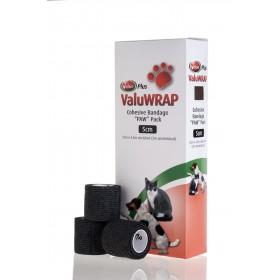 Valuwrap Paw Pack 5cmx4.5M Black 10's