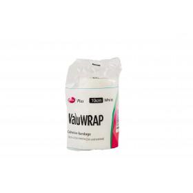 Valuwrap Cohesive Bandage 10cm White
